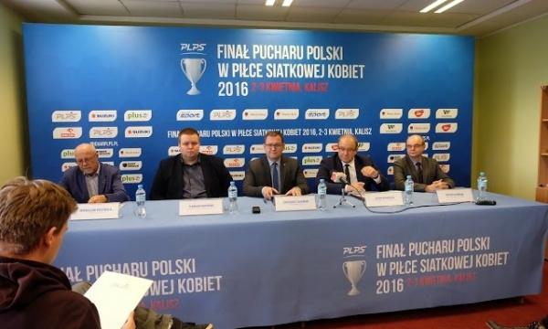 Konferencja prasowa przed finałami PP kobiet w Kaliszu