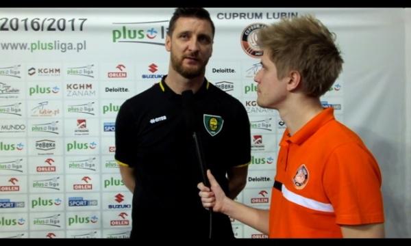 Piotr Gruszka po meczu Cuprum Lubin - GKS Katowice