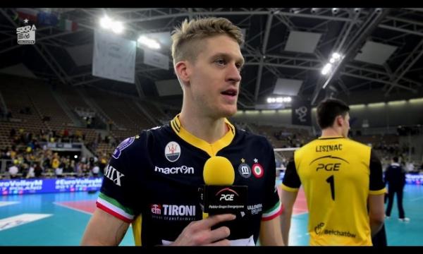 Maxwell Holt po meczu - PGE Skra - Azimut Modena 1:3