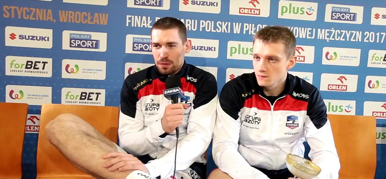 Dawid Konarski i Łukasz Wiśniewski po finale Pucharu Polski