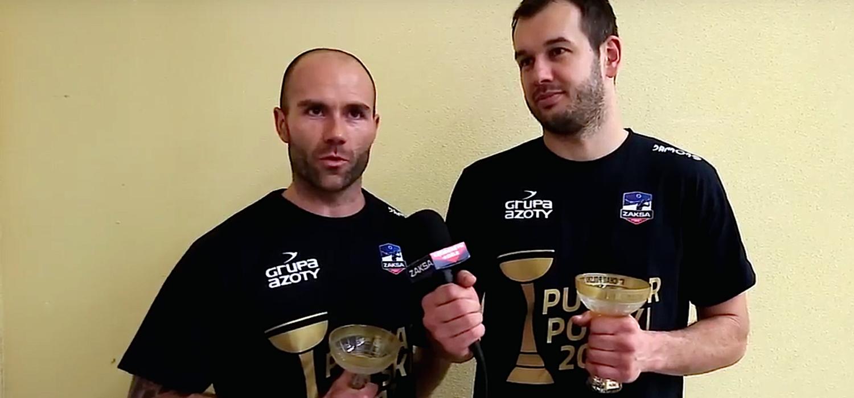 Dominik Witczak i Piotr Pietrzak po Pucharze Polski