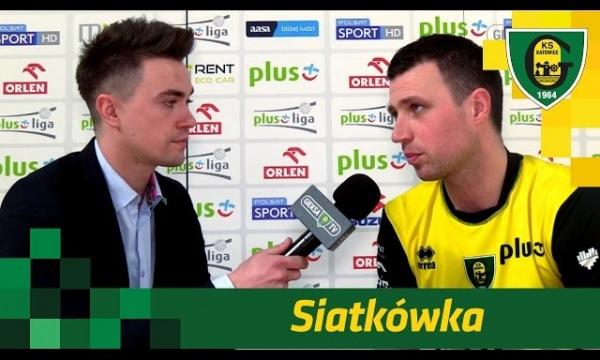 Maciek Fijałek po meczu GieKSy z Cuprum Lubin (11.03.2017)