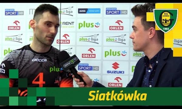Grzegorz Kosok po meczu GieKSy z Jastrzębiem w Spodku