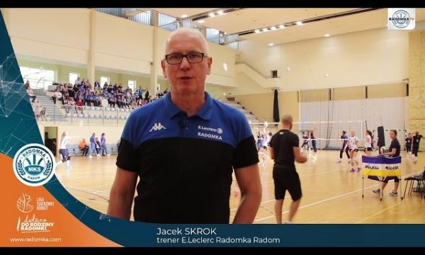 Trener Jacek Skrok podsumowuje udział w IV Turnieju Siatkówki Kobiet o Solna Piłkę.