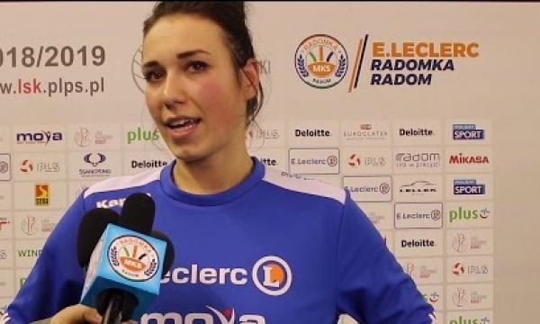 Gabriela Ponikowska po meczu z ENERGA MKS Kalisz