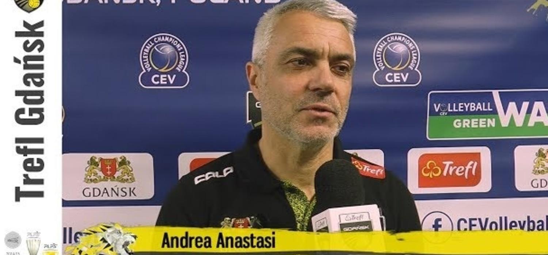 Andrea Anastasi i Jolan Cox po starciu Ligi Mistrzów | Trefl Gdańsk
