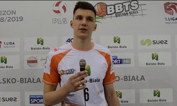 Bartosz Firszt po meczu z Exact Systems Norwid Częstochowa