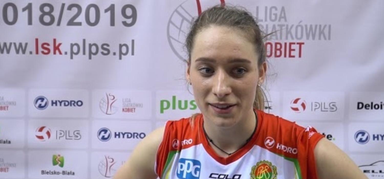 Olivia Różański po meczu z ŁKS Commercecon Łódź