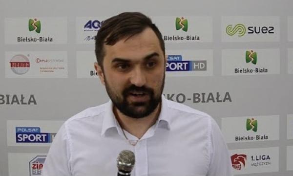 Trener Mateusz Mielnik po meczu z BBTS Bielsko Biała
