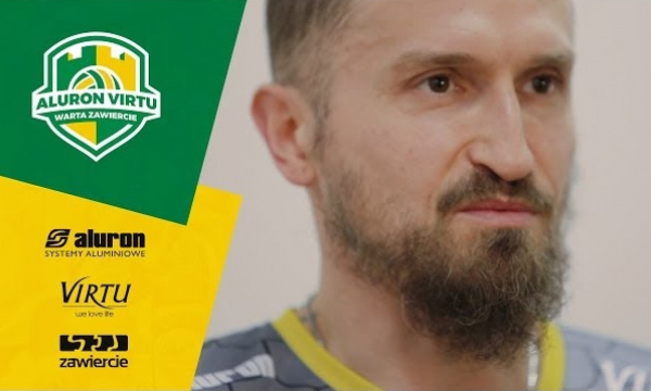 Play-off z Aluron Virtu Warta Zawiercie: Michal Masny