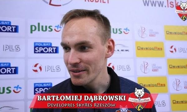 WYWIAD: Bartłomiej Dąbrowski po meczu Developres SkyRes Rzeszów -  Chemik Police