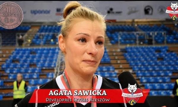 WYWIAD: Agata Sawicka po rozdaniu medalowym i meczu Developres SkyRes Rzeszów - Chemik Police