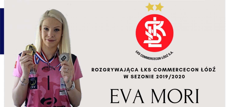 Eva Mori rozgrywającą mistrzyń Polski