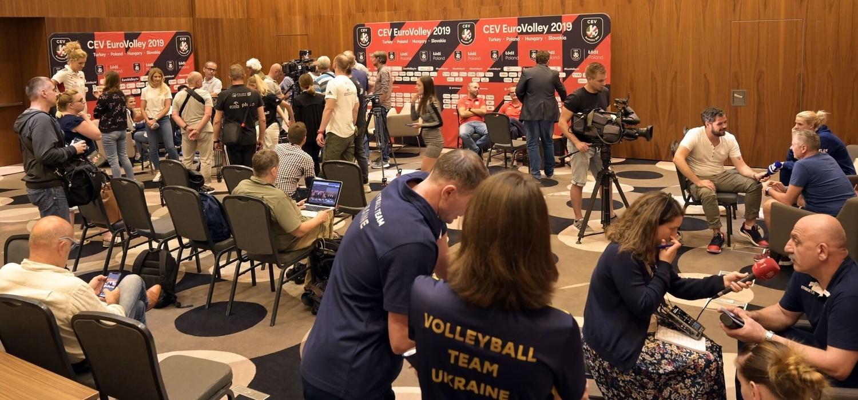 Spotkanie medialne przed EuroVolley 2019 kobiet