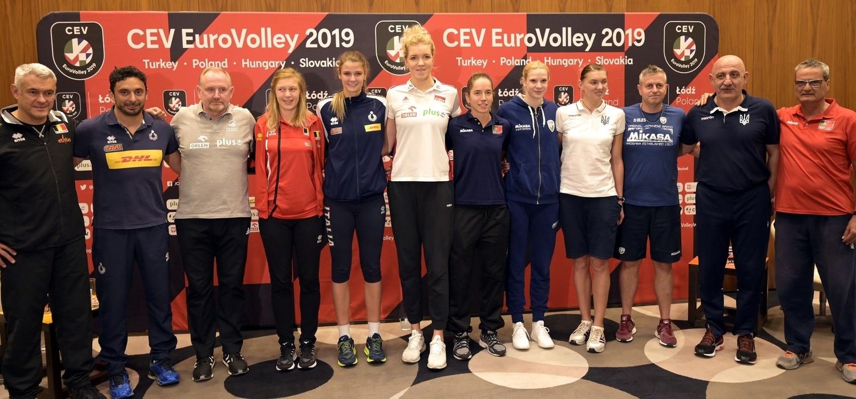 Składy kadr narodowych na CEV ME 2019 kobiet