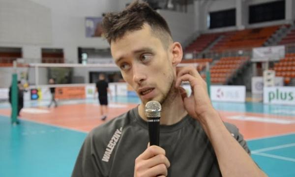Bartosz Cedzyński po meczu z KFC Gwardią Wrocław.