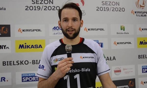 Kajetan Marek po wygranym meczu Pucharu Polski z Exact Systems Norwid Częstochowa.
