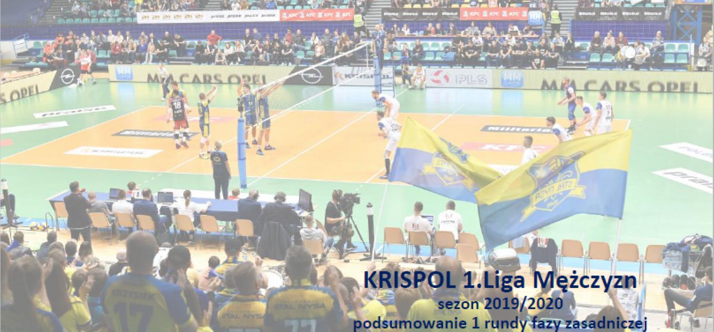 Podsumowanie pierwszej części rundy zasadniczej KRISPOL 1. Ligi Mężczyzn