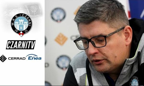CzarniTV: Trener Robert Prygiel przed pierwszym meczem