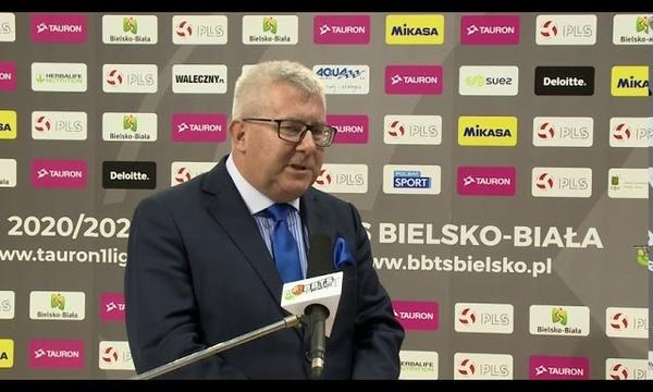 Ryszard Czarnecki o meczu BBTS Bielsko-Biała - Polski Cukier Avia Świdnik.