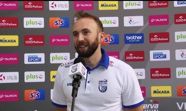 Karol Rędzioch przed meczem z PGE Skrą Bełchatów