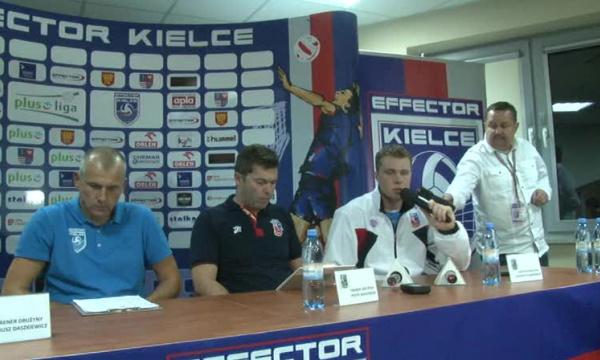 Konferencja prasowa po meczu Effector Kielce - Delecta Bydgoszcz