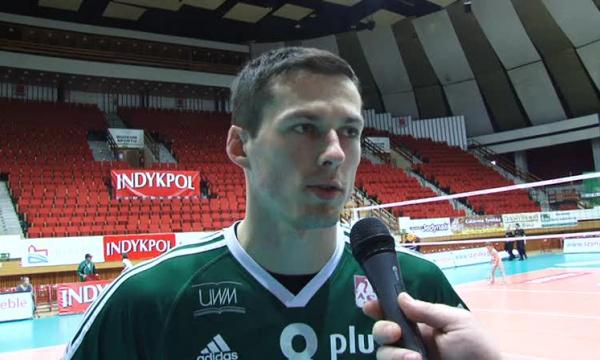 Rafał Buszek-w piątym secie zabrakło nam sił.