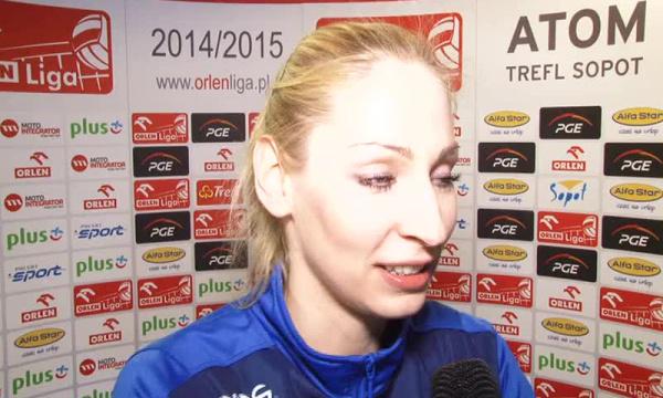 Agnieszka Bednarek-Kasza MVP meczu PGE Atom-Chemik.